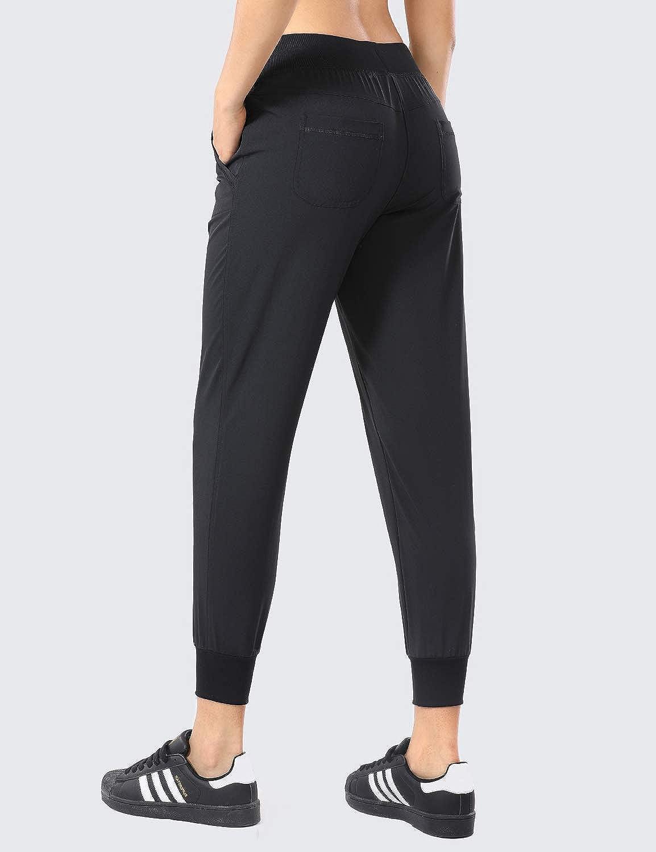 CRZ YOGA Femme Pantalon D/écontract/é Yoga Pantalons et Training avec Poches Longueur Longue
