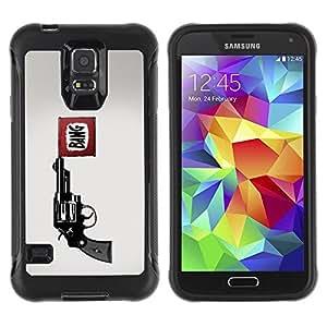 LASTONE PHONE CASE / Suave Silicona Caso Carcasa de Caucho Funda para Samsung Galaxy S5 SM-G900 / Bang Pistol Gun