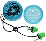 Waterproof Super Soft Silicone Ear Plugs For Surf, Surfing, Swimming By SEKI - Block Out Water, Allow Hearing, with Corded Earplugs For Surfer, Swimmer, Adults, Diving Hearing Protection