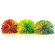 3-Pack of Monkey Stringy Balls (Latex-Free, BPA/Phthalate-Free) - Great Fidget / Stress / Sensory Toy
