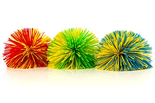 Impresa Products 3-Pack of Monkey Stringy Balls (Latex-Free, BPA/Phthalate-Free) – Great Fidget / Stress / Sensory Toy
