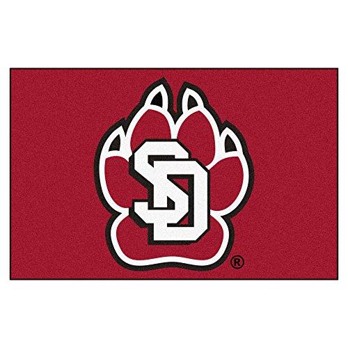 (FANMATS NCAA University of South Dakota Coyotes Nylon Face Starter Rug)