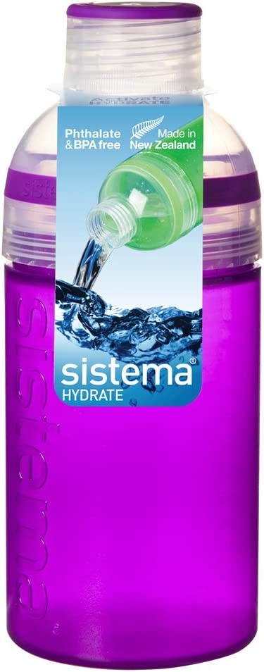 Sistema Hydrate Botella, Assorted Colours, 480 ml