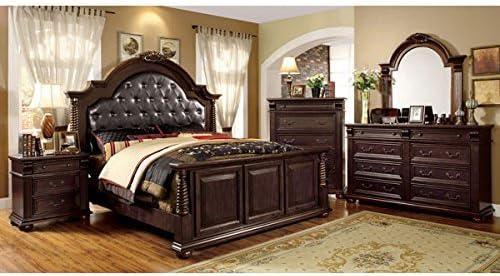 Amazon Com 247shopathome Bedroom Set King Cherry Kitchen Dining