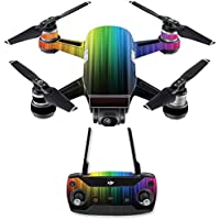 Skin for DJI Spark Mini Drone Combo - Rainbow Streaks| MightySkins Protective, Durable, and Unique Vinyl Decal wrap cover | Easy To Apply, Remove, and Change Styles | Made in the USA
