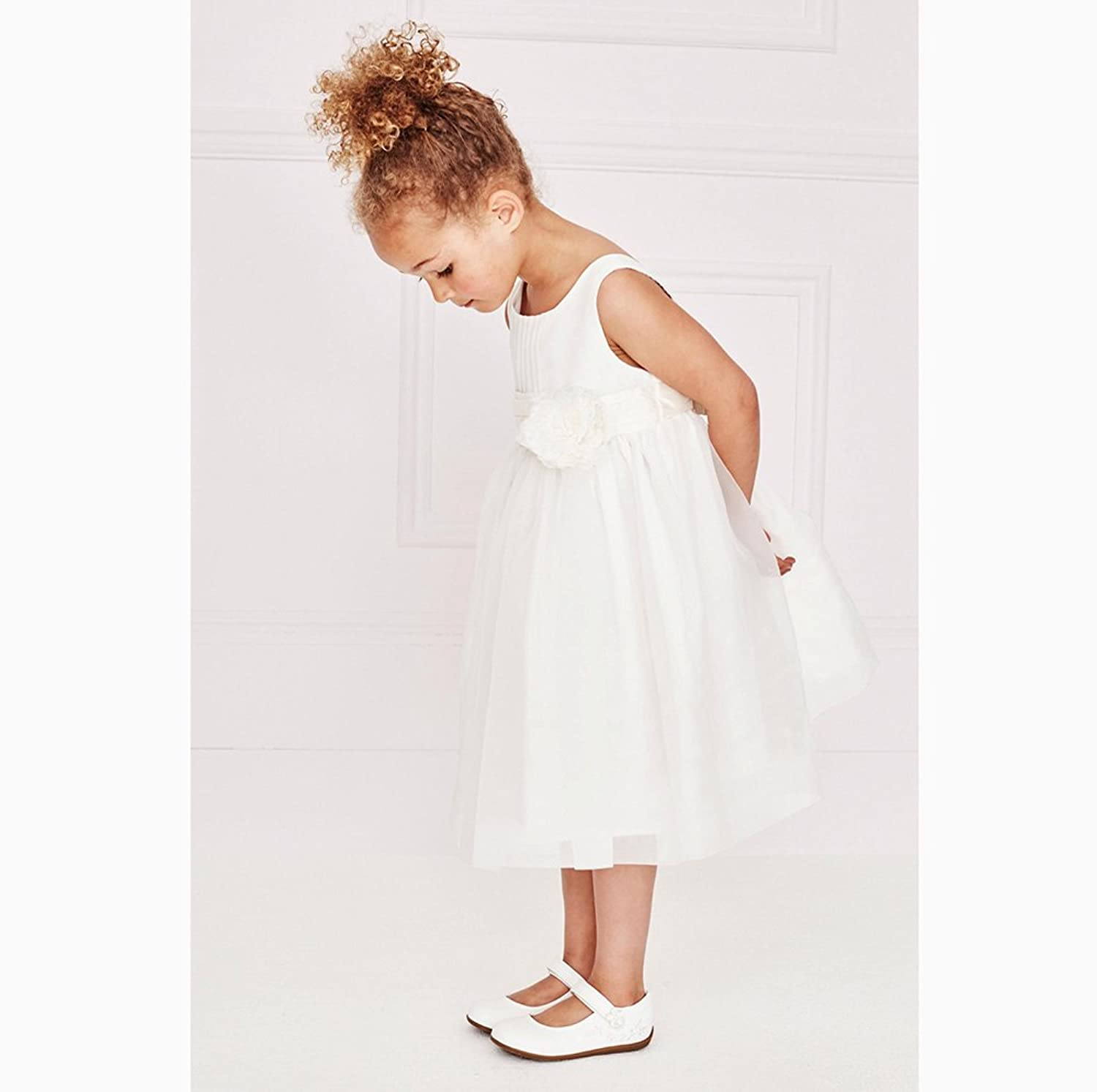 ad7a9aea5642 LvYinLi US Girls Clothes Girls White Flower Dresses