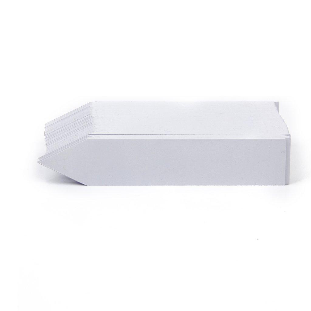 Doyime Jaune Etiquette en plastique de type T 100pcs