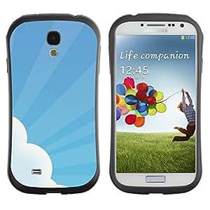 Paccase / Suave TPU GEL Caso Carcasa de Protección Funda para - Sky Sun Rays Cloud Blue White Art - Samsung Galaxy S4 I9500