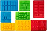 Bargain Paradise Silicone Molds Building Blocks and Robots, Set of 8