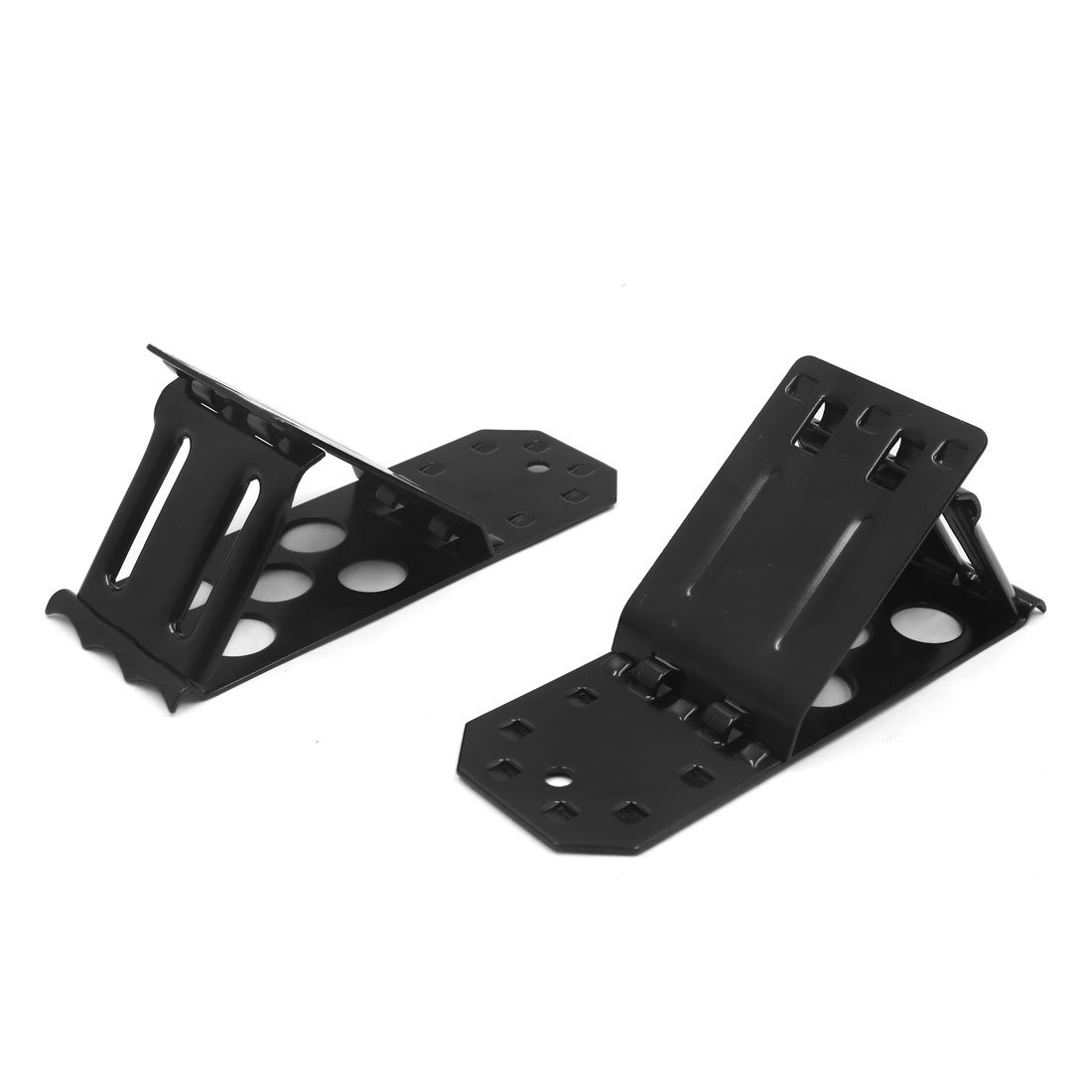 uxcell 2 Pcs Metal Folding Wheel Chock Camper Car Tire Emergency Stop Stopper Blocker