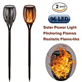 Electric Tiki Torch pool Lights Solar LED Flickering Dancing Flame Dusk to Dawn Auto on/off Outdoor Path Landscape Decoration Lighting Patio Deck Pathway Yard Wedding (2)