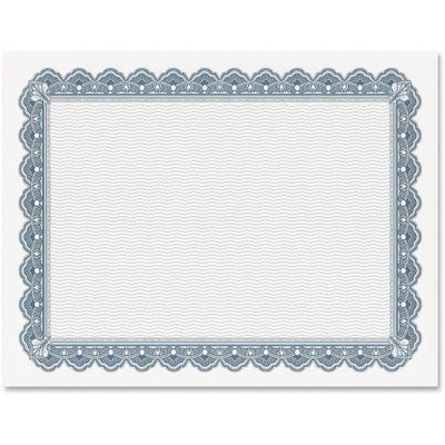 Geographics Parchment Paper Certificates, 8-1/2 x 11, Blue Royalty Border, 50/Pack by Unknown