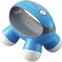 Masajeador de mano HoMedics, Quatro Mini con agarre de mano, masajeador de vibración a pilas, 4 nodos de masaje, alimentado por 2 pilas AAA (incluidas), disponible en 3 colores (rosa, azul o azul)