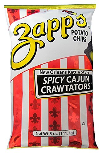 Cajun Potato Chips - Zapps Potato Chips - NEW ORLEANS KETTLE STYLE SPICY CAJUN CRAWTATORS - 2 x 5 oz