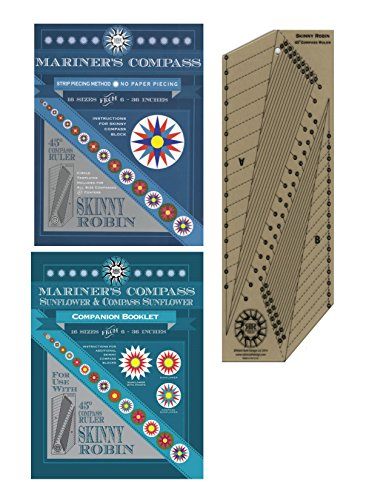 Compass Quilt - Mariners Compass Skinny Robin Ruler Book and Companion Booklet Quilt Project