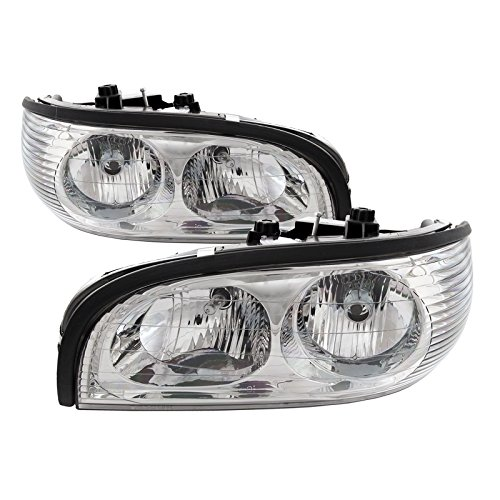 PERDE Replacement for Buick Park Avenue Chrome Headlights with Performance Lens Driver/Passenger (Buick Park Avenue Headlight Drivers)