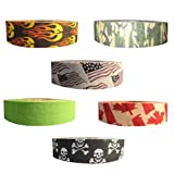 renfrew cloth hockey tape - Renfrew Scapa Tapes Renfrew Bright or Patterned Cloth Hockey Tape - 1 Inch - Flame - 1 Inch