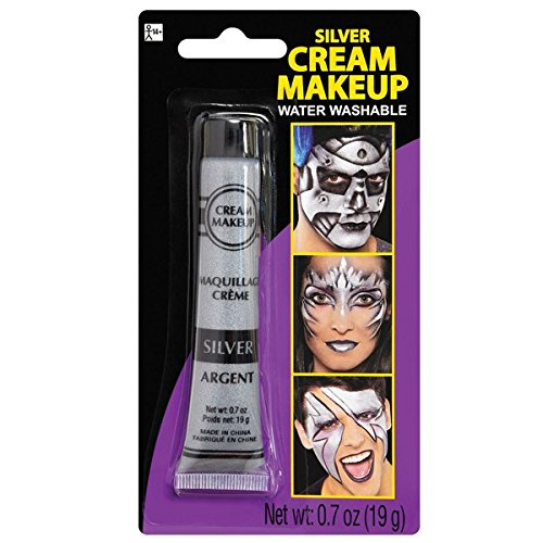 Silver Face Makeup (Silver Metallic Cream - Makeup Costume)