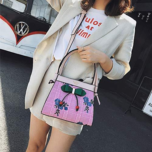 de Sac de Sac Lady Brown à PU Pink Sacs plage voyage bandoulière Sac Couleur portable femelle GJ mode de Loisirs dos à Sacs wItppf