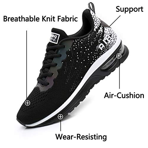 RUMPRA Women Sneakers Lightweight Air Cushion Gym Fashion Shoes Breathable Walking Running Athletic Sport