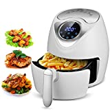 SLC Air Fryer, 1300W Electric Air Fryer 2.6L Oil Free Air Fryer with Digital Touch Screen Control, 7 Cooking Presets, Timer, Temperature Control, 2.7QT Detachable Basket for Baking Grill Roast Review