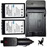 Two Halcyon Olympus BLS-1 BLS1 1800mAh 5 Year Warranty Replacement Olympus Lithium Li-on Digital Camera Batteries and Charger Kit