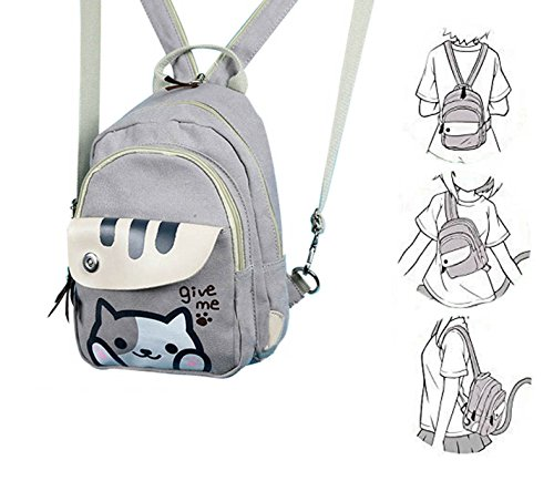 Japanese Game Neko Atsume Anime Cute Backpack Multifunctional Shoulder Bag Purse Chest Bag Small(A)