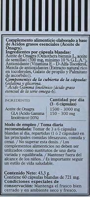 PRONUTRI - PRONUTRI Aceite de Onagra 60 cápsulas blandas: Amazon ...