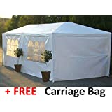 Party Tents Two Sizes: Giant 9m x 3m or Large 6m x 3m Party Tent, Marquee. Inc. FREE Carriage Bag, Spare Parts Stocked for this Tent. (Large - 6m x 3m)