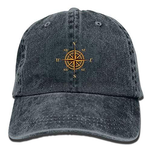 YUNJIYIFANG Nautical Sailing Compass Denim Hat Adjustable Snapback Baseball Caps