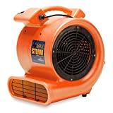 Max Storm 1/2 HP 2550 CFM Durable Lightweight Air Mover Carpet Dryer Blower Floor Fan for Pro Janitorial, Orange