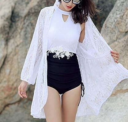 HOMEE Traje de baño Falda de Playa - Playa de Mujer Bikini Blusa ...