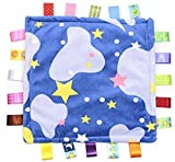 Comforting Stars and Clouds Generic Baby Blanket with satin tags