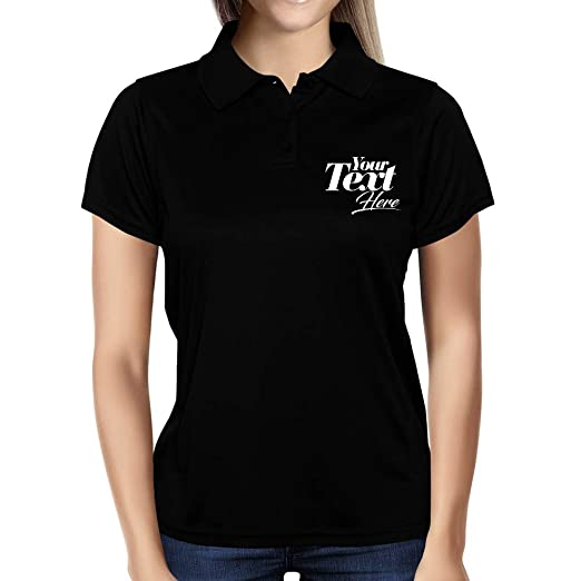 Amazon Com Idakoos Personalized Polo Shirt Womens Add Your Own
