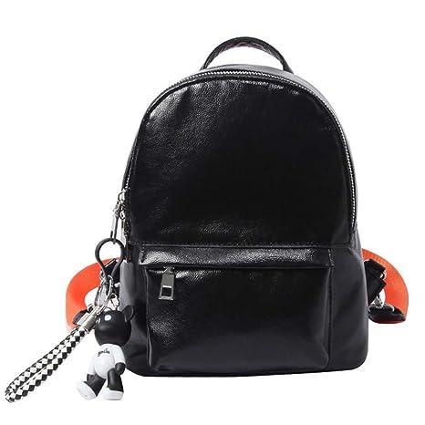 62c7149c1b10 Deabag Glitter Silver Backpack Women Bright Solid Bag Small Backpacks Black