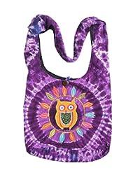 KayJayStyles Hippie Hobo Sling Cross body Tie Dye Owl Bag Nepal