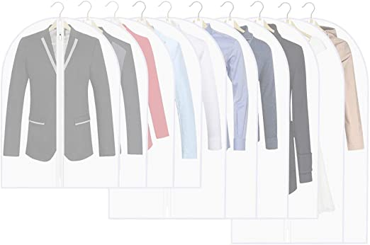 24 x31 Inch Thipoten Garment Bags Set of 5 Dust Proof Suit Bags with Full Stainless Steel Zipper,Garment Bags for Storage//Closet//Travel