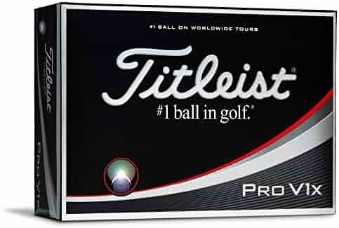 Titleist Pro V1x Golf Balls, White (One Dozen)