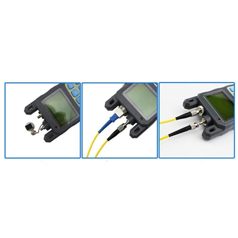 70 a 10 dBm y 1mw 5 kilometros de fibra /óptica Cable Tester Egomall Todo-en-una fibra /óptica medidor de potencia de
