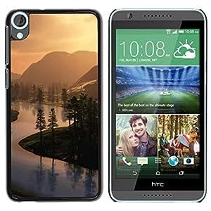 TopCaseStore / la caja del caucho duro de la cubierta de protección de la piel - Countryside views - HTC Desire 820