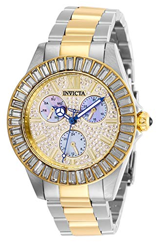 Invicta Women's Angel Quartz Watch with Stainless Steel Strap, Two Tone, 20 (Model: 28447)