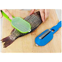 2 Pc Fish Tools Fast Cleaning Fish Skin Steel Fish Scales Brush Shaver Remover Cleaner Descaler Skinner Scaler Fishing Tools Knife