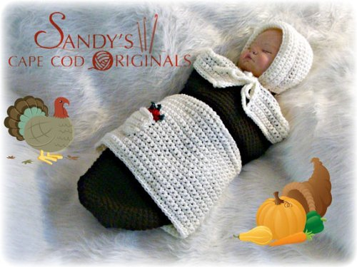 Pilgrim Baby Girl Cocoon and Bonnet Crochet Pattern