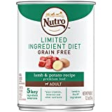 NUTRO Limited Ingredent Diet Grain Free Adult Lamb & Potato Recipe Premium Loaf Canned 12.5 Ounce Cans (Pack of 12); Lamb is the #1 Ingredient; Rich in Nutrients and Full of Flavor; Designed for Dogs with Food Sensitivities