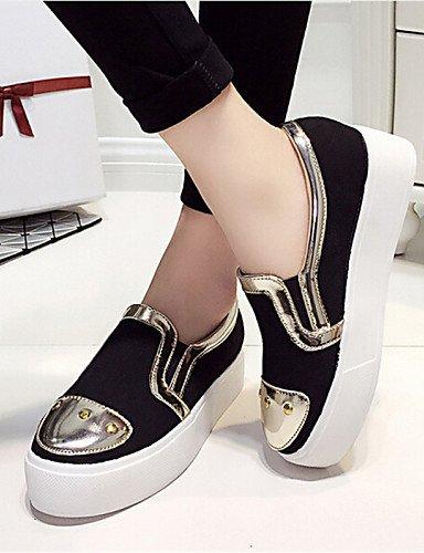 us7 5 exterior Blanco negro Gyht semicuero White Zapatos Eu39 Uk6 White Zq Uk5 Cn38 Cn39 mocasines plataforma creepers Eu38 De 5 us8 Mujer Casual HUSSPn0x