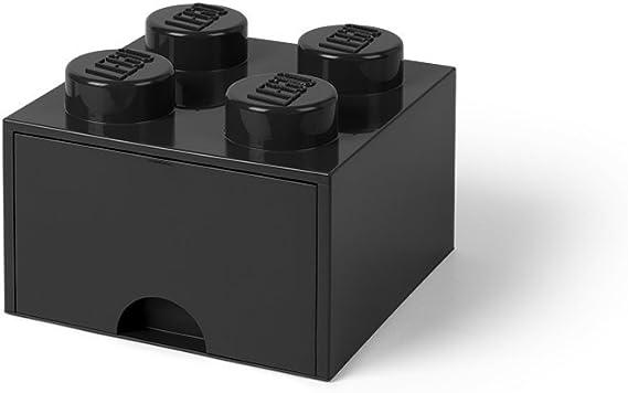 Room Copenhagen-Lego Ladrillo 4 pomos, 1 cajón, Caja de almacenaje apilable, 4,7 l 40051733: Amazon.es: Juguetes y juegos