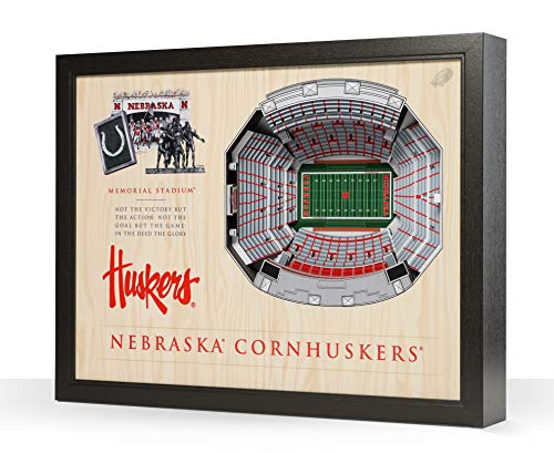 NCAA Nebraska Cornhuskers 25-Layer Stadiumviews 3D Wall Art