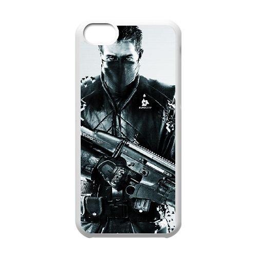 Syndicate 4 coque iPhone 5c cellulaire cas coque de téléphone cas blanche couverture de téléphone portable EEECBCAAN08866