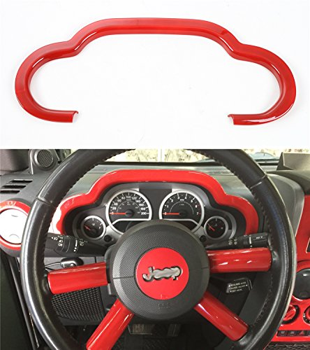 Opar Red Dash Board Accent for 2007 - 2010 Jeep JK Wrangler & Unlimited