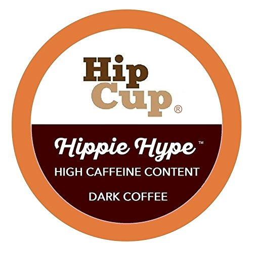 HipCup High Caffeine K Cups Coffee, Extra Strong, Hippie Hype Blend - 80 Count